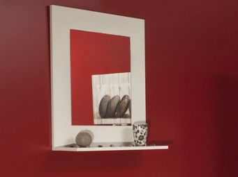 WHITE LABEL - image miroir mural design couleur creme - Miroir