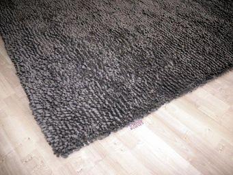 WHITE LABEL - venice tapis épais gris - Tapis Contemporain