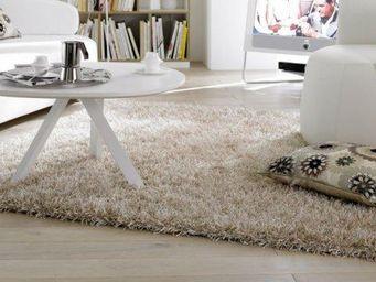 WHITE LABEL - feeling tapis épais crème 90x160 cm - Tapis Contemporain