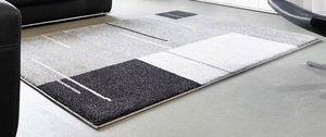 WHITE LABEL - samoa design tapis patchwork gris 200x290 cm - Tapis Contemporain