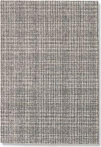 WHITE LABEL - davinci tapis quadrillé noir 160x230 cm - Tapis Contemporain