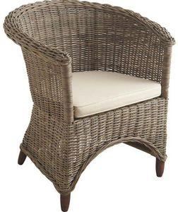Aubry-Gaspard - fauteuil poelet gris - Fauteuil De Jardin