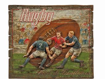 Interior's - enseigne rugby - Tableau Décoratif