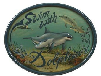 Interior's - enseigne les dauphins - Décoration Murale