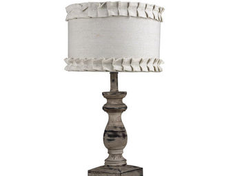 Interior's - lampe en bois jeu d'ombres - Lampe � Poser