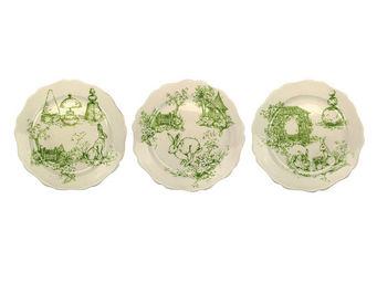 Interior's - coffret de 6 assiettes à dessert jardin - Assiette Plate