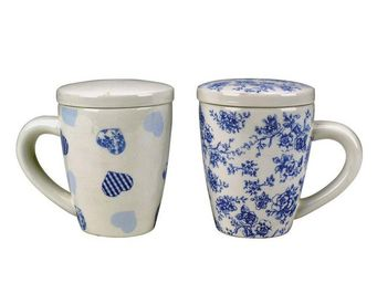 Interior's - coffret de 4 mugs gourmandise avec couvercle - Mug