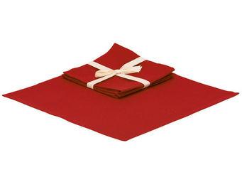 Interior's - serviette de table rouge - Serviette De Table