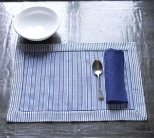 A CASA BIANCA - arezzo denim placemat - Set De Table