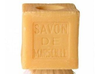 MARIUS FABRE - savon de marseille sur sa brosse - Savon Naturel