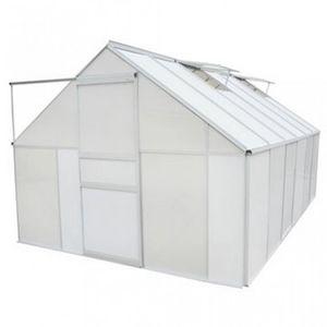 WHITE LABEL - serre de jardin polycarbonate 9,25 m² - Serre