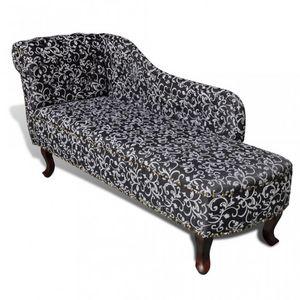WHITE LABEL - fauteuil canapé méridienne vintage - Méridienne