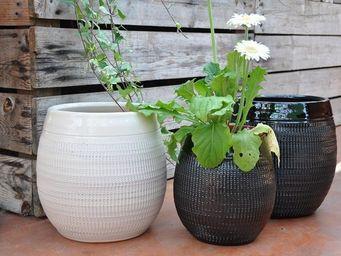 Les Poteries Clair de Terre - inca - Vase � Fleurs