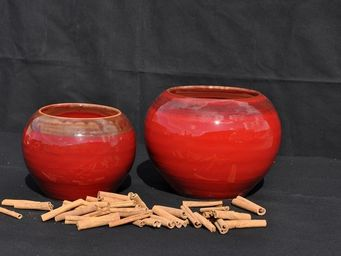 Les Poteries Clair de Terre - bor�al - Vase D�coratif