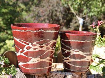 Les Poteries D'albi - odyssee - Vase À Fleurs