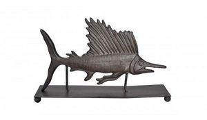 Demeure et Jardin - marlin trophée a poser en fonte - Sculpture Animalière