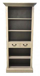 Demeure et Jardin - petite biblioth�que ivoire int�rieure gris - Biblioth�que Ouverte