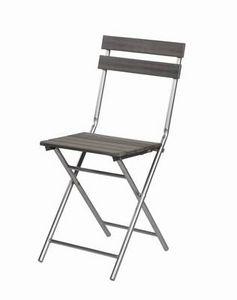 Mathi Design - chaise pliante bois et fer - Chaise Pliante