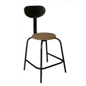 Mathi Design - chaise atelier - Chaise Haute De Bar