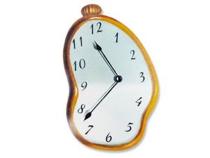 WHITE LABEL - grand tapis informatique horloge coulante tapis de - Tapis De Souris