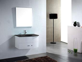 UsiRama.com - meuble salle de bain ecochic vasque en verre - Meuble Vasque