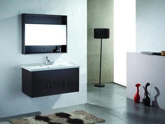 UsiRama.com - meuble salle de bain noblesse design 1m - Meuble De Salle De Bains