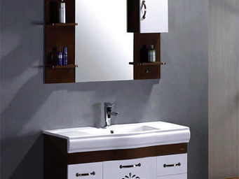 UsiRama.com - meuble salle de bain pas cher cisely 1m - Meuble De Salle De Bains