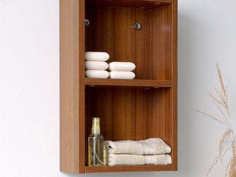 UsiRama.com - colonne de salle de bain 50cm en couleur bois - Etagère De Salle De Bains