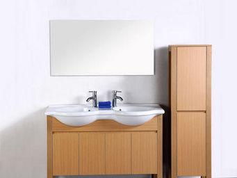 UsiRama.com - meuble salle de bain bobois 1.3m - Meuble Double Vasque