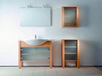 UsiRama.com - meuble salle de bain bois massif natuluxe 80cm - Meuble De Salle De Bains