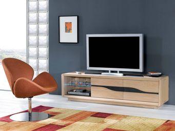 Ateliers De Langres - ceram - meuble tv 2 portes - Meuble Tv Hi Fi