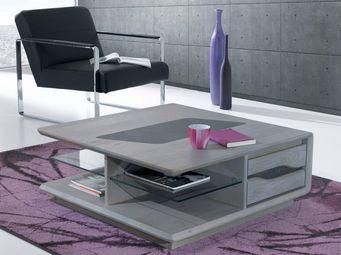 Ateliers De Langres - ceram - table basse carrée - Table Basse Carrée