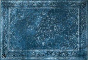 WHITE LABEL - tapis style persan rugged bleu de zuiver 170 x 240 - Tapis Contemporain