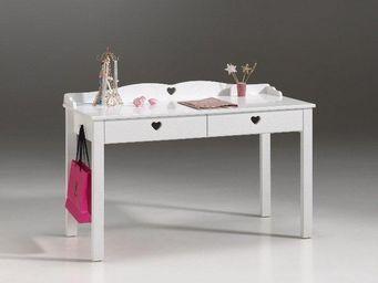 WHITE LABEL - bureau amori blanc 2 tiroirs - Bureau