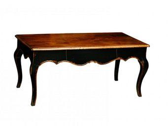 WHITE LABEL - table basse voltaire de style régence 100x50 avec  - Table Basse Rectangulaire