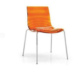Calligaris - chaise design l'eau de calligaris orange transpar - Chaise
