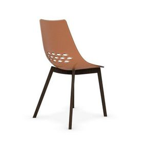 Calligaris - chaise jam w de calligaris orange transparent piét - Chaise