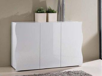 WHITE LABEL - buffet onda blanc 3 portes - Buffet Bas