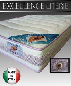WHITE LABEL - matelas 140 * 200 cm excellence literie épaisseur  - Matelas En Mousse