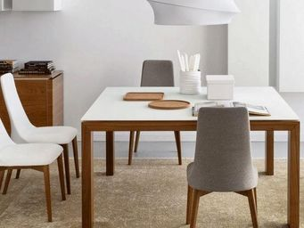 Calligaris - table repas sigma glass 140x140 de calligaris en v - Table De Repas Ronde