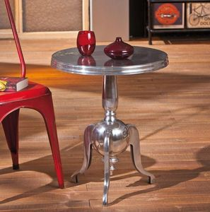 WHITE LABEL - table d'appoint nime en aluminium - Table D'appoint