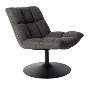 WHITE LABEL - fauteuil pivotant bar lounge de dutchbone gris fon - Fauteuil