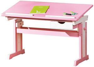 WHITE LABEL - bureau junior inclinable coloris rose et blanc - Bureau Enfant