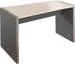 WHITE LABEL - bureau 120 cm en bois coloris gris et chêne clair - Bureau