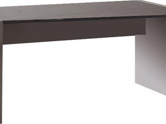 WHITE LABEL - bureau 180 cm en bois coloris gris et chêne anthra - Bureau