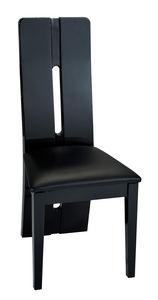 COMFORIUM - lot de 2 chaises design noires laquée - Chaise
