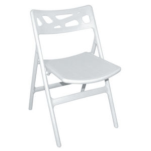 Chaise de jardin pliante en aluminium et textile Gris ...