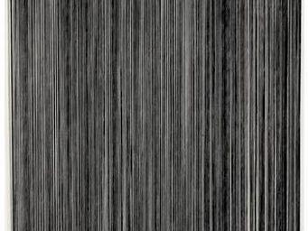 Aubry-Gaspard - rideau fil de porte en polyester noir - Rideaux Pr�ts � Poser