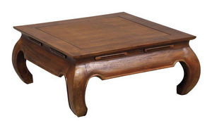 Aubry-Gaspard - table basse opium 100x100x35cm taille 2 - Table Basse Carrée
