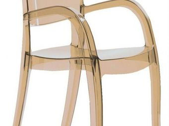 WHITE LABEL - chaise joker design marron - Chaise